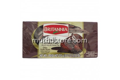 BRITANNIA DOUBLE CHOCOLATE CAKE 250g